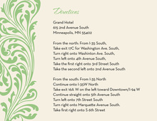 Vintage Green Flourish Enclosure Cards