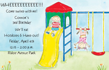 Great Birthday Playground Invitation