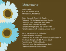Special Blue Foral Brown Enclosure Cards