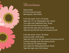 Special Pink Floral Enclosure Cards