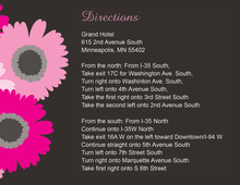 Very Hot Pink Floral Enclosure Cards