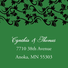 Formal Green Vines Stickers