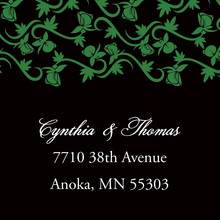 Formal Bright Green Vines Stickers
