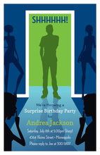 Surprise Silhouette Young Man Invitations
