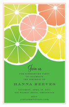 Halved Citrus Summer Invitation