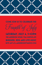 Diamond Rope Navy Patriotic Invitations