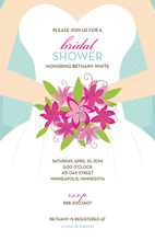 Front Bride Holding Wedding Bouquet Invitations