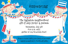 Patriotic Children Invitation