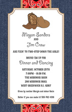 Trendy Denim Western Cowboy Invitations