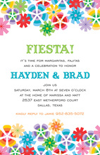 Abstract Fiesta Bright Invitations