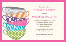 Pattern Tea Time Invitation