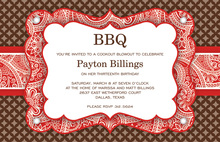Exquisite Red Western Bandana Invitations