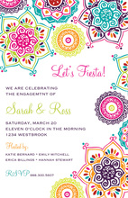 Bright Fiesta Flowers Fiesta Shower Invitations