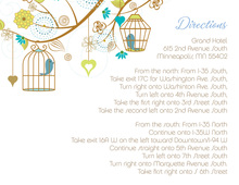 Eclectic Branch Wedding Birds Enclosure Cards