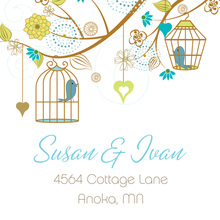 Eclectic Branch Wedding Birds Stickers