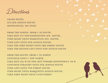 Sunset Wedding Love Birds Enclosure Cards