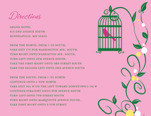 Bird Cage Among Vines Pink Enclosure Cards