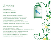 Bird Cage Among Vines White Enclosure Cards