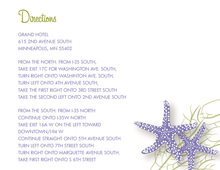 Purple Starfish Wedding Enclosure Cards