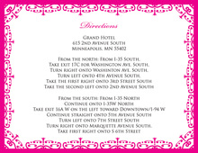 Wrought Pattern Hot Pink Enclosure Cards