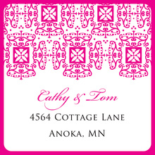 Wrought Pattern Hot Pink Stickers