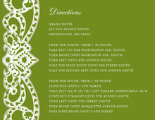 Elegant Vine Frame Green Enclosure Cards