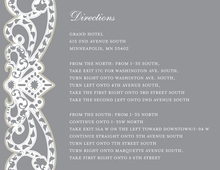 Elegant Vine Frame Grey Enclosure Cards