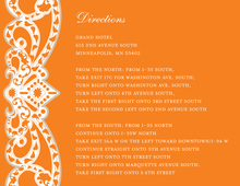 Elegant Vine Frame Orange Enclosure Cards