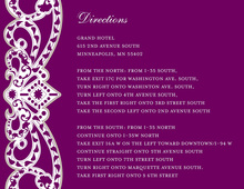 Elegant Vine Frame Purple Enclosure Cards