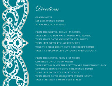 Elegant Vine Frame Teal Enclosure Cards