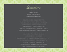 Elegant Sage Damask Enclosure Cards
