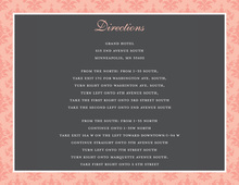 Formal Pink Damask Enclosure Cards