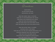 Stylish Green Damask Enclosure Cards