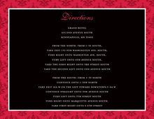 Holiday Red Damask Enclosure Cards