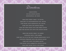 Unique Lavender Damask Enclosure Cards