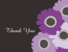 Lavender Floral Charcoal Thank You Cards