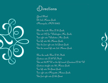 Delicate Flourish Teal Enclosure Cards