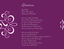 Delicate Flourish Purple Enclosure Cards