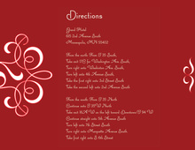 Delicate Flourish Red Enclosure Cards