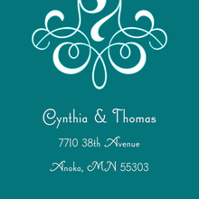 Delicate Flourish Teal Stickers