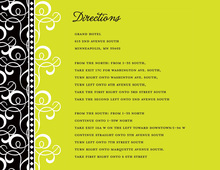 Lime Green Pattern Flourish Enclosure Cards