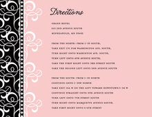 Pink Pattern Flourish Enclosure Cards