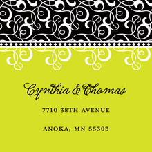 Lime Green Pattern Flourish Stickers