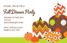 Abstract Jazzy Pumpkins Invitation