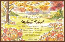 Various Pumpkin Field Fall Invitations