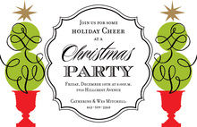 Topiary Cheer Invitations