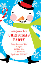 Happy Snowman Invitations