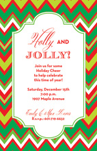 Holiday Chevron Invitations