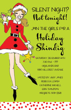 Laughing Santa Sister Invitations