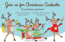 Happy Reindeer Riot Cocktail Invitations